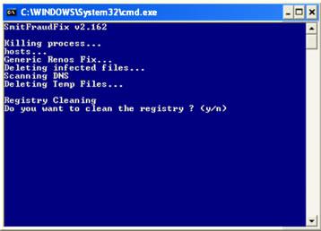 smitfraudfix - odstranění malware