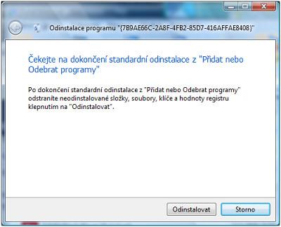 TU - neodebral program odinstalátorem