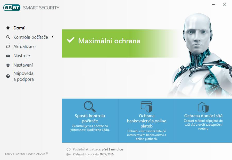 náhled obrazovek - ESET Smart Security 10