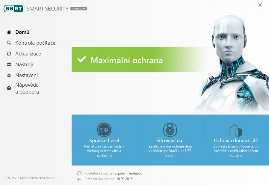 náhled obrazovek - ESET Smart Security 11 Premium