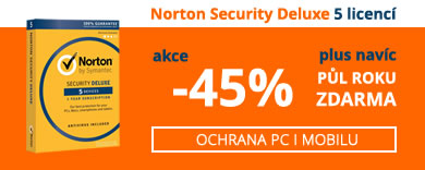 Akce Norton Security Deluxe - do vyprodání zásob