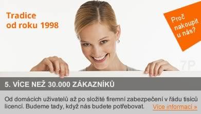 Od domácích uživatelů až po složité firemní zabezpečení v řádu tisíců licencí. Působíme na českém trhu od roku 1998, budeme zde, když nás budete potřebovat.