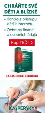 AKCE - získejte navíc licenkci Kaspersky zdarma!