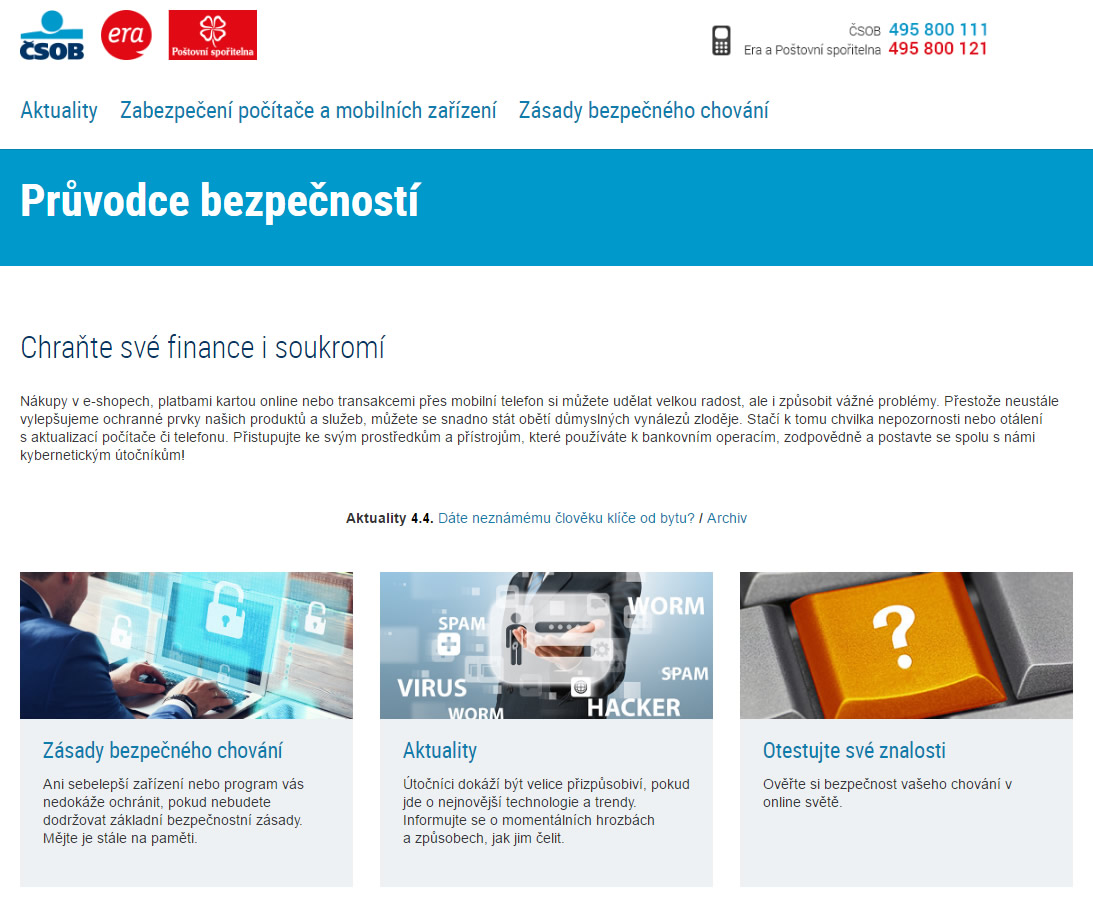 d60e1dbfe Zajímavá osvětová kampaň ČSOB chytá a varuje nepozorné uživatele ...
