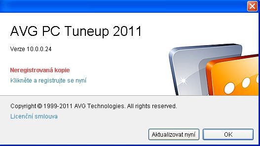 Registrace AVG PC Tuneup