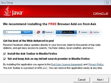 Ask Toolbar - JAVA